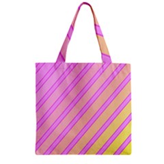 Pink and yellow elegant design Zipper Grocery Tote Bag
