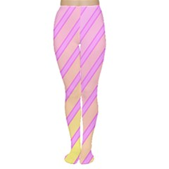 Pink and yellow elegant design Women s Tights