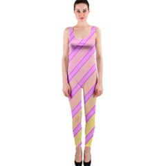 Pink and yellow elegant design OnePiece Catsuit