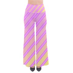Pink And Yellow Elegant Design Pants