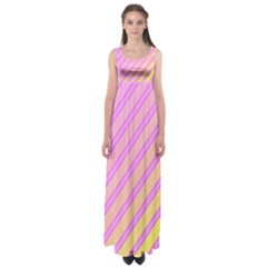 Pink and yellow elegant design Empire Waist Maxi Dress