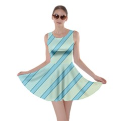 Blue elegant lines Skater Dress