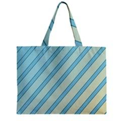 Blue elegant lines Zipper Mini Tote Bag