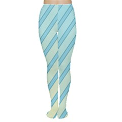 Blue elegant lines Women s Tights