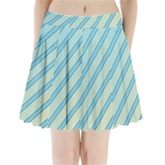 Blue Elegant Lines Pleated Mini Mesh Skirt
