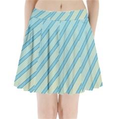 Blue Elegant Lines Pleated Mini Mesh Skirt