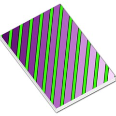 Purple and green lines Large Memo Pads