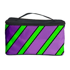 Purple and green lines Cosmetic Storage Case