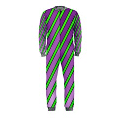 Purple and green lines OnePiece Jumpsuit (Kids)
