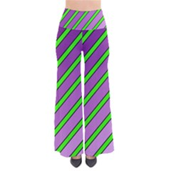 Purple and green lines Pants