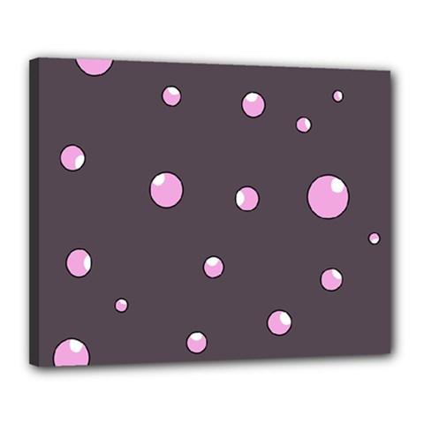 Pink bubbles Canvas 20  x 16