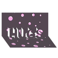 Pink bubbles HUGS 3D Greeting Card (8x4)