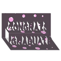 Pink bubbles Congrats Graduate 3D Greeting Card (8x4)