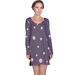 Pink bubbles Long Sleeve Nightdress