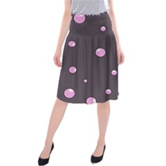 Pink bubbles Midi Beach Skirt