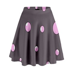 Pink Bubbles High Waist Skirt