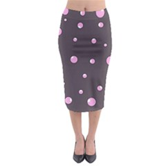 Pink Bubbles Midi Pencil Skirt