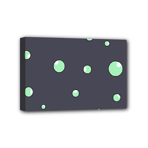Green bubbles Mini Canvas 6  x 4