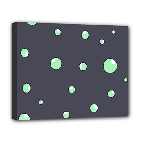 Green bubbles Deluxe Canvas 20  x 16