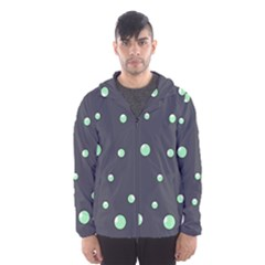 Green bubbles Hooded Wind Breaker (Men)