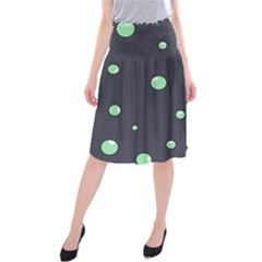 Green bubbles Midi Beach Skirt