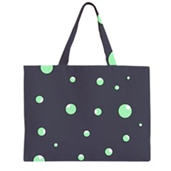 Green bubbles Large Tote Bag