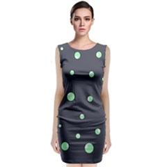 Green Bubbles Classic Sleeveless Midi Dress