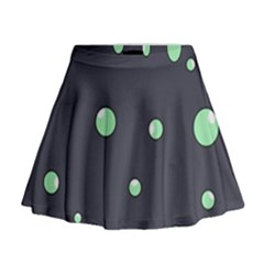 Green Bubbles Mini Flare Skirt