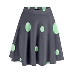 Green Bubbles High Waist Skirt