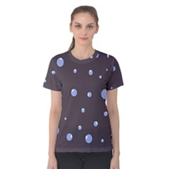 Blue bubbles Women s Cotton Tee