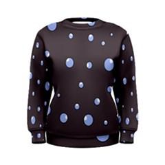 Blue bubbles Women s Sweatshirt