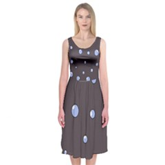 Blue bubbles Midi Sleeveless Dress