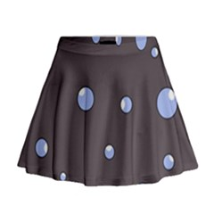 Blue Bubbles Mini Flare Skirt