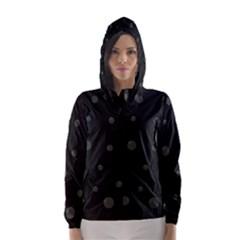 Gray bubbles Hooded Wind Breaker (Women)