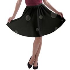 Gray bubbles A-line Skater Skirt