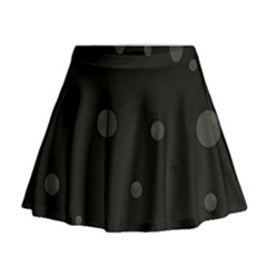 Gray Bubbles Mini Flare Skirt