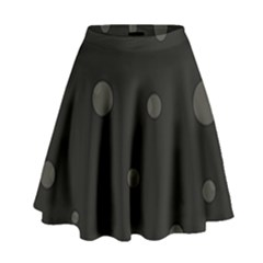 Gray bubbles High Waist Skirt