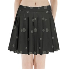 Gray Bubbles Pleated Mini Mesh Skirt