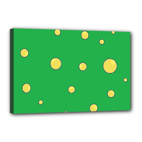 Yellow bubbles Canvas 18  x 12