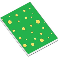 Yellow bubbles Large Memo Pads