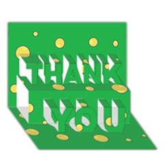 Yellow bubbles THANK YOU 3D Greeting Card (7x5)