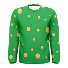 Yellow bubbles Men s Long Sleeve Tee