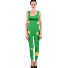 Yellow bubbles OnePiece Catsuit