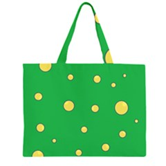 Yellow bubbles Large Tote Bag