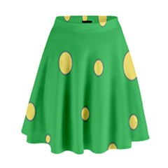 Yellow Bubbles High Waist Skirt