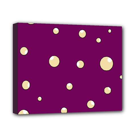 Purple and yellow bubbles Canvas 10  x 8