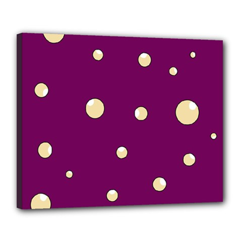 Purple and yellow bubbles Canvas 20  x 16