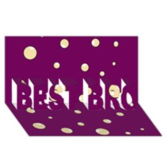 Purple and yellow bubbles BEST BRO 3D Greeting Card (8x4)