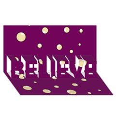 Purple and yellow bubbles BELIEVE 3D Greeting Card (8x4)
