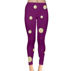 Purple and yellow bubbles Leggings